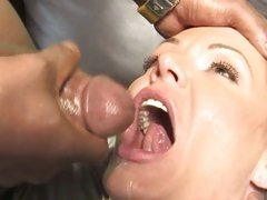 Kelly Leigh cum filled while son is watching