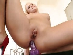 Ivana Sugar masturbating her tight asshole with dildo
