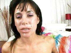 Haley Wilde filled with cum all over her body and face