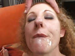 Cock hungry milf Annie Body sucks hard for a mouthfull of cum