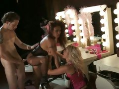 Jessica Drake and Kaylani Lei get hard fuck after dance