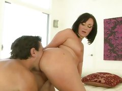 Valerie Luxe get her round ass lick on couch