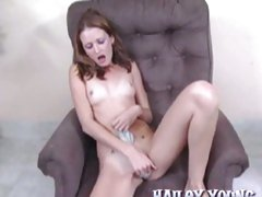 Hailey Young rubs her wet aching pussy and enjoys an amazing orgasm