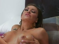Claudia Valentine filled with cum on face and chest
