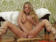Hot blonde Shawna Leene fingers her wet pussy to a wild orgasm.