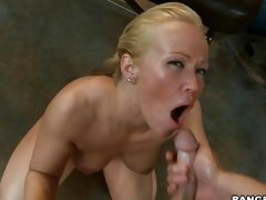 Milf Austin Taylor loves the taste of cum fresh from a cock.
