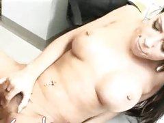 Rachel Starr jamming wet gash full of bosses cock