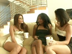 Emy Reyes gathers her friends in the living room for some naughty fun