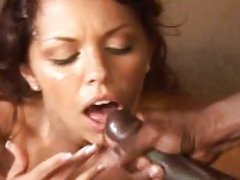 slut Jade Russell receives a hot load of cock juice on her filthy mouth