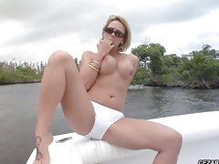 Brianna Beach teases and pleases outdoors showing off her body