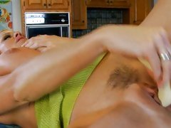 Dildo cramming Kelly Madison getting pussy off