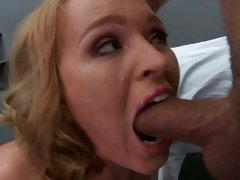Krissy Lynn force choking self with hard cock