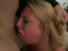 Charisma Capelli deep throats a mouthful of stiff prick