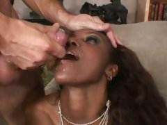 Luscious Nyomi Banxxx loves getting showered in cum