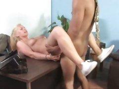 Tara Lynn blonde babe got throbbed hard on desk