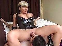 Horny slut torture the bondage cock