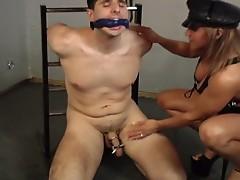 Mistress orabella tortures and teases her slave