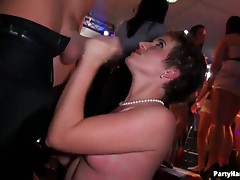 Horney strippers and lesbos in a wild sex party