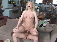 Big tits blonde momma is 50 and still fervently fucking
