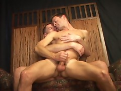 Gay hunks having a romantic anal fuck