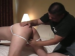 Gay slave fucked hard in the ass
