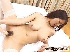Amazing rei himekawa with toy
