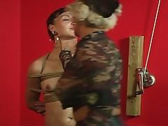 Bondage babe slut plug sweet dildo inside