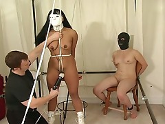 Bondage dolls get tortured by their master!