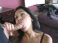 Sizzling hot Sienna West fiils her juicy Mouth with an outstanding thick nob