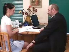Gorgeous coed gets fucked by her old teacher