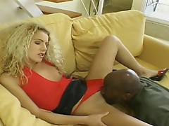 Hot honey Jacqueline Stone thumps a NIce Black sauSage in this guyr Mad Mouth