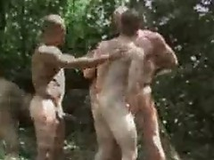 Ashley rider, luc bonay and benjamin outdoor gay sex