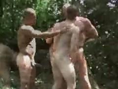 Ashley rider, luc bonay and benjamin outdoor gay sex