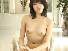 Asian girl is nude on educational video