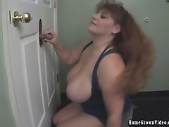 Big Boobs Cheryl Works Multiple Cocks At A Glory Hole