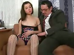 Steaming hot coed got laid with her ugly teacher.