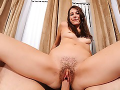 Sweet little shy college girl Aubrey Lee gets her trimmed pussy rammed