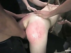 Lots of guys fucking her nasty pink white hole