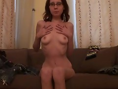 Amateur gf in glasses going slutty