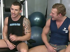Danny Harper  and Richard Pierce have a hot, horny, hardcore jock fuck in the Randy Blue Gym.