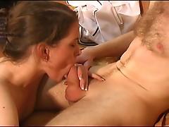 Gorgeous european couple have passionate blowjob