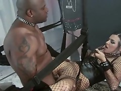 Lusty Honey Danica Dillan whacks her throat with her lover's thick digger