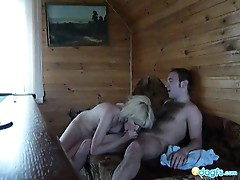 Sexy blonde gf takes a wild cock ride