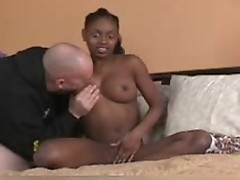 Usty ebony whore sucks and slammed scene