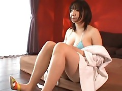Busty japanese girl showing body