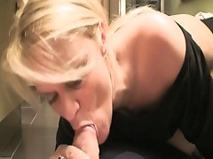 Blonde milf gets interviewed by one and fucked by another
