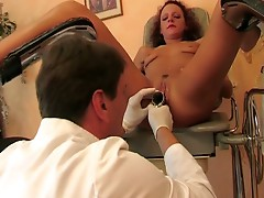Lazy nurse gets punished in the gyno chair