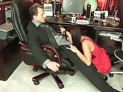 Red head secretary alysa super mouth bashing and anal toying