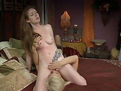 Hot and horny lesbian rides her gf's face to get pussy eaten