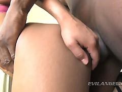 Asian slut loves big dick surprises